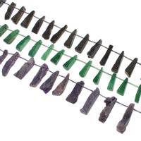 Druzy Beads, Eisquarz Achat, natürlich, druzy Stil, keine, 9x37x8-9x42x16mm, Bohrung:ca. 1mm, 20PCs/Strang, verkauft per ca. 15.5 ZollInch Strang