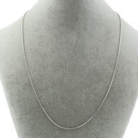 Edelstahl Halskette Gliederkette, Schlangekette, originale Farbe, 1mm, verkauft per ca. 18.5 ZollInch Strang