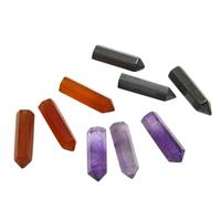 Edelstein Anhänger Komponente , Pendel, verschiedenen Materialien für die Wahl & kein Loch, 4x14mm-5x16mm, 50PCs/Tasche, verkauft von Tasche