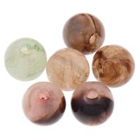 Eis-Flake-Acryl-Perlen, Acryl, rund, Eis Flocke, gemischte Farben, 8mm, Bohrung:ca. 1mm, ca. 1500PCs/Tasche, verkauft von Tasche