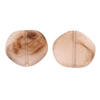 Eis-Flake-Acryl-Perlen, Acryl, Klumpen, Eis Flocke, hell Kaffee, 30x7mm, Bohrung:ca. 1mm, ca. 100PCs/Tasche, verkauft von Tasche
