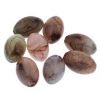 Eis-Flake-Acryl-Perlen, Acryl, oval, Eis Flocke, gemischte Farben, 13x20mm, Bohrung:ca. 1mm, ca. 250PCs/Tasche, verkauft von Tasche