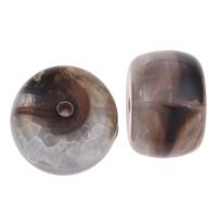 Eis-Flake-Acryl-Perlen, Acryl, Zylinder, Eis Flocke, Kaffeefarbe, 20x13mm, Bohrung:ca. 2mm, ca. 110PCs/Tasche, verkauft von Tasche