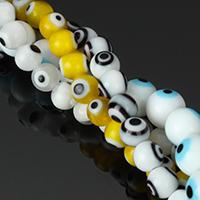 Böser Blick Lampwork Perlen, blöser Blick, handgemacht, Islam Schmuck & verschiedene Größen vorhanden, keine, Bohrung:ca. 0.5mm, Länge:ca. 15 ZollInch, verkauft von Menge