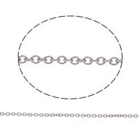 Edelstahl ovale Kette, verschiedene Größen vorhanden & Oval-Kette, originale Farbe, 50m/Tasche, verkauft von Tasche