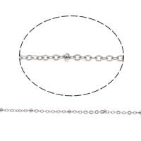 Edelstahl ovale Kette, Oval-Kette, originale Farbe, 2x1mm, 50m/Tasche, verkauft von Tasche
