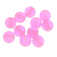 Transparente Acryl-Perlen, Acryl, rund, transluzent, Rosa, 6mm, Bohrung:ca. 1mm, ca. 3000PCs/Tasche, verkauft von Tasche