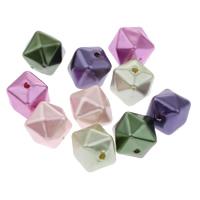 Imitation Acryl-Perlen, Acryl, Nachahmung Perle, gemischte Farben, 13mm, Bohrung:ca. 1mm, ca. 390PCs/Tasche, verkauft von Tasche
