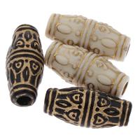 Golddruck Acryl Perlen, oval, gemischte Farben, 11x23mm, Bohrung:ca. 3mm, 2Taschen/Menge, ca. 350PCs/Tasche, verkauft von Menge