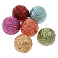 Imitation Acryl-Perlen, Acryl, rund, Nachahmung Perle, gemischte Farben, 18mm, Bohrung:ca. 1mm, ca. 170PCs/Tasche, verkauft von Tasche