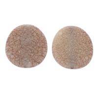 Eis-Flake-Acryl-Perlen, Acryl, Eis Flocke & transluzent, Kaffeefarbe, 33x38x9mm, Bohrung:ca. 1mm, ca. 65PCs/Tasche, verkauft von Tasche
