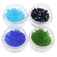 Rondell Kristallperlen, Kristall, facettierte, mehrere Farben vorhanden, 4x3mm, Bohrung:ca. 1mm, 100PCs/Tasche, verkauft von Tasche