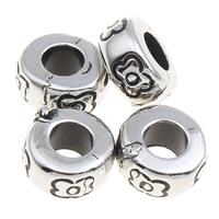 Verkupfertes Kunststoff-Perlen, Verkupferter Kunststoff, Rondell, antik silberfarben plattiert, 8x5mm, Bohrung:ca. 3mm, 1000PCs/Tasche, verkauft von Tasche