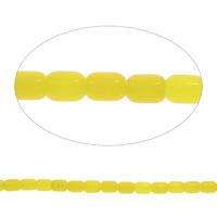 Natürliche gelbe Achat Perlen, Gelber Achat, Zylinder, verschiedene Größen vorhanden, Bohrung:ca. 1.5mm, verkauft per ca. 15 ZollInch Strang