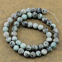 Lotus Jaspis Perlen, Lotos Jaspis, rund, natürlich, verschiedene Größen vorhanden & satiniert, Bohrung:ca. 1-2mm, Länge:ca. 15.5 ZollInch, verkauft von Menge