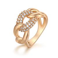 Gets® Finger Ring, Messing, vergoldet, verschiedene Größen vorhanden & Micro pave Zirkonia, frei von Nickel, Blei & Kadmium, 12mm, verkauft von PC