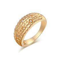 Gets® Finger Ring, Messing, vergoldet, verschiedene Größen vorhanden & mit kubischem Zirkonia, frei von Nickel, Blei & Kadmium, 9mm, verkauft von PC