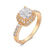 Gets® Finger Ring, Messing, Quadrat, vergoldet, verschiedene Größen vorhanden & Micro pave Zirkonia & facettierte, frei von Nickel, Blei & Kadmium, 10mm, verkauft von PC