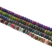 Geknister Achat Perle, Rondell, facettierte, keine, 10x6mm, Bohrung:ca. 1mm, ca. 65PCs/Strang, verkauft per ca. 15 ZollInch Strang