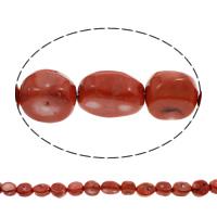 Natürliche Korallen Perlen, rot, 17x21x12mm-19x26x16mm, Bohrung:ca. 1mm, ca. 17PCs/Strang, verkauft per ca. 15.5 ZollInch Strang