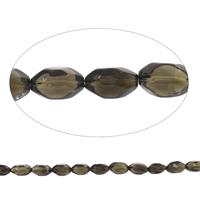 Natürliche Rauchquarz Perlen, oval, facettierte, Grad AAA, 12x20mm-15x25mm, Bohrung:ca. 2mm, ca. 17PCs/Strang, verkauft per ca. 15 ZollInch Strang