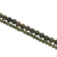 Unakit Perlen, Unakite, rund, verschiedene Größen vorhanden, Bohrung:ca. 1mm, Länge:ca. 15 ZollInch, verkauft von Tasche