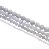 Natürliche violette Achat Perlen, Violetter Achat, rund, verschiedene Größen vorhanden, Bohrung:ca. 1mm, Länge:ca. 15 ZollInch, verkauft von Tasche
