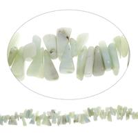 Edelstein-Span, Amazonit, Klumpen, 8x16x5mm-12x22x9mm, Bohrung:ca. 0.8mm, Länge:ca. 15 ZollInch, 5SträngeStrang/Tasche, ca. 100PCs/Strang, verkauft von Tasche