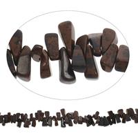 Edelstein-Span, mahagonibrauner Obsidian, Klumpen, 7x13mm-8x18mm, Bohrung:ca. 0.8mm, Länge:ca. 15 ZollInch, 5SträngeStrang/Tasche, ca. 105PCs/Strang, verkauft von Tasche