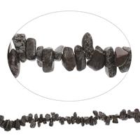 Schneeflocke Obsidian, Klumpen, 8x10mm-10x20mm, Bohrung:ca. 0.8mm, Länge:ca. 15 ZollInch, 5SträngeStrang/Tasche, ca. 100PCs/Strang, verkauft von Tasche