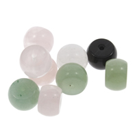 Mischedelstein Perlen, Edelstein, gemischt, 12x8mm, Bohrung:ca. 1.5mm, 10PCs/Tasche, verkauft von Tasche