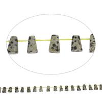 Dalmatinische Perlen, Dalmatiner, Trapez, 8x12x5mm, Bohrung:ca. 1mm, ca. 33PCs/Strang, verkauft per ca. 15 ZollInch Strang