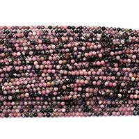 Rhodonit Perlen, rund, natürlich, verschiedene Größen vorhanden, Bohrung:ca. 0.5mm, Länge:ca. 16 ZollInch, verkauft von Menge