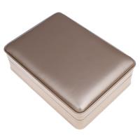Karton Schmuckset Kasten, Armband & Halskette, mit PU Leder & Baumwollsamt, Rechteck, Kaffeefarbe, 160x50x115mm, verkauft von PC