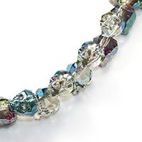 Kristall-Perlen, Kristall, Schädel, halb plattiert, verschiedene Größen vorhanden & facettierte, Bohrung:ca. 2mm, verkauft von PC