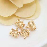 Messing Stiftöse Perlen, Zylinder, 24 K vergoldet, ohne troll & hohl, frei von Nickel, Blei & Kadmium, 9x11x7mm, Bohrung:ca. 2mm, 4.5mm, 50PCs/Menge, verkauft von Menge