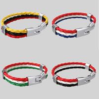 PU Schnur Armbänder, PU Leder, mit Zinklegierung, antik silberfarben plattiert, keine, 11mm, verkauft per ca. 8 ZollInch Strang