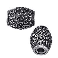Zinklegierung Magnetverschluss, Edelstahl, oval, Schwärzen, 13x11x11mm, Bohrung:ca. 3mm, 20PCs/Menge, verkauft von Menge
