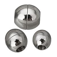 Edelstahl Magnetverschluss, oval, verschiedene Größen vorhanden, originale Farbe, 10PCs/Menge, verkauft von Menge