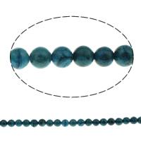 Sosalith Perle, rund, verschiedene Größen vorhanden, Bohrung:ca. 1mm, verkauft per ca. 15 ZollInch Strang