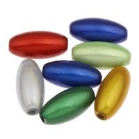 Traumhafte Acrylperlen, Acryl, oval, gemischte Farben, 6x12mm, Bohrung:ca. 1mm, ca. 2200PCs/Tasche, verkauft von Tasche
