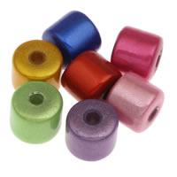 Traumhafte Acrylperlen, Acryl, Zylinder, gemischte Farben, 8mm, Bohrung:ca. 1mm, ca. 1280PCs/Tasche, verkauft von Tasche