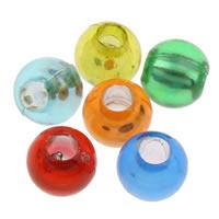 Silberdruck Acrylperlen, Acryl, rund, transluzent, gemischte Farben, 8mm, Bohrung:ca. 2mm, ca. 2600PCs/Tasche, verkauft von Tasche