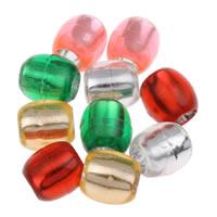 Silberdruck Acrylperlen, Acryl, Trommel, verschiedene Größen vorhanden & transluzent, gemischte Farben, verkauft von Tasche