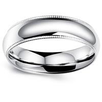Edelstahl Herren-Fingerring, verschiedene Größen vorhanden & für den Menschen, originale Farbe, 6mm, verkauft von PC