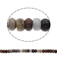 Natürliche Indian Achat Perlen, Indischer Achat, Rondell, 15x8mm, Bohrung:ca. 1mm, ca. 79PCs/Strang, verkauft per ca. 15.5 ZollInch Strang