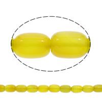 Natürliche gelbe Achat Perlen, Gelber Achat, Trommel, 17x13mm, ca. 22PCs/Strang, verkauft per ca. 15.5 ZollInch Strang