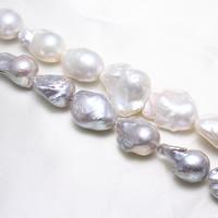 Kultivierte kernhaltige Süßwasserperlen, kultivierte Süßwasser kernhaltige Perlen, Biwa, keine, 18-20mm, Bohrung:ca. 0.8mm, Länge:ca. 15.5 ZollInch, ca. 10SträngeStrang/kg, verkauft von kg
