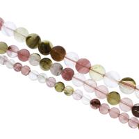 Mischedelstein Perlen, Edelstein, rund, verschiedene Größen vorhanden, Bohrung:ca. 1mm, verkauft per ca. 14.5 ZollInch Strang