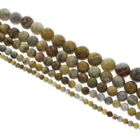 Natürliche verrückte Achat Perlen, Verrückter Achat, rund, verschiedene Größen vorhanden, Bohrung:ca. 1mm, verkauft per ca. 14.5 ZollInch Strang